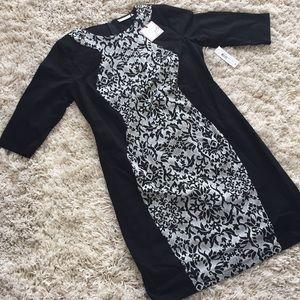 Black patterned dress 👗